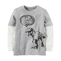 Toddler Boy Carter's Mock-Layer Dinosaur Tee