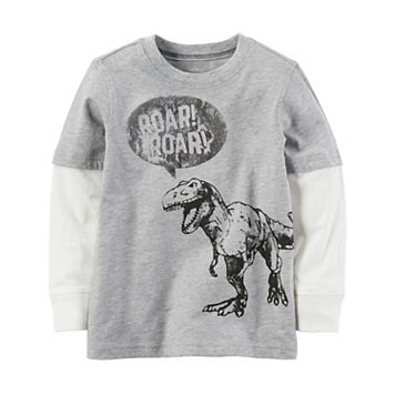 Toddler Boy Carter's Mock-Layer Dinosaur Tee