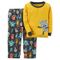 Toddler Boy Carter's Monster Graphic Top & Microfleece Bottoms Pajama Set