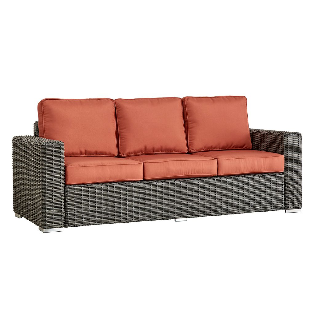 HomeVance Ravinia Wicker Patio Sofa