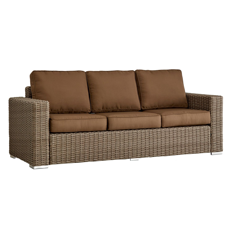 HomeVance Wicker Patio Sofa
