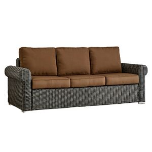 HomeVance Ravinia Wicker Patio Arm Sofa
