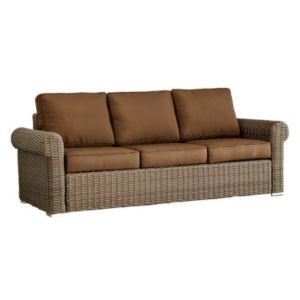 HomeVance Wicker Patio Arm Sofa