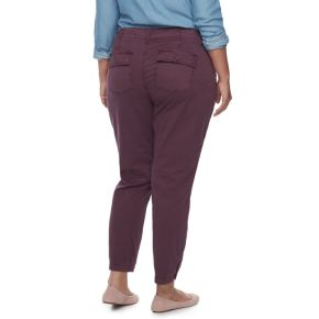 Plus Size SONOMA Goods for Life™ Straight-Leg Sateen Ankle Pants
