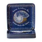 Certified International Calm Seas 6-pc. Salad Plate Set