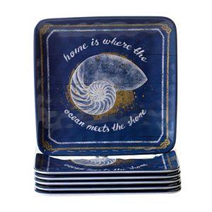 Certified International Calm Seas 6-pc. Salad Plate Set