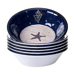 Certified International Calm Seas 6 pc All-Purpose Bowl Set