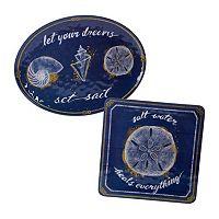 Certified International Calm Seas 2 pc Platter Set