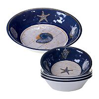 Certified International Calm Seas 5 pc Salad Serving Set