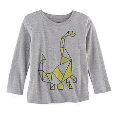 Toddler Boy Jumping Beans® Geometric Dinosaur Softest Tee