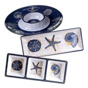 Certified International Calm Seas 3 pc Hostess Set