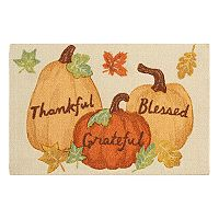 Celebrate Harvest Together ''Thankful, Grateful, Blessed'' Rug - 20'' x 30''