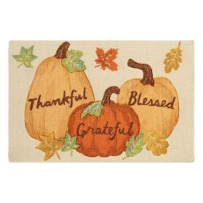 Celebrate Fall Together ''Thankful, Grateful, Blessed'' Rug - 20'' x 30''