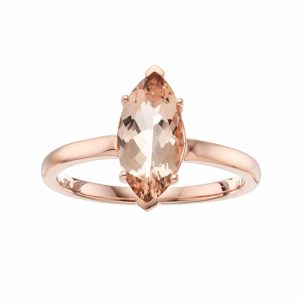 LC Lauren Conrad 10k Rose Gold Morganite Marquise Ring