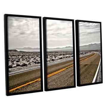 ArtWall ''Slow Curves'' Vertical Framed Wall Art 3-piece Set