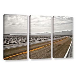 ArtWall ''Slow Curves'' Canvas Wall Art 3-piece Set