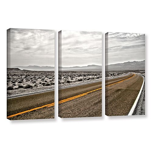 ArtWall ''Slow Curves'' Canvas Wall Art 3-piece Set