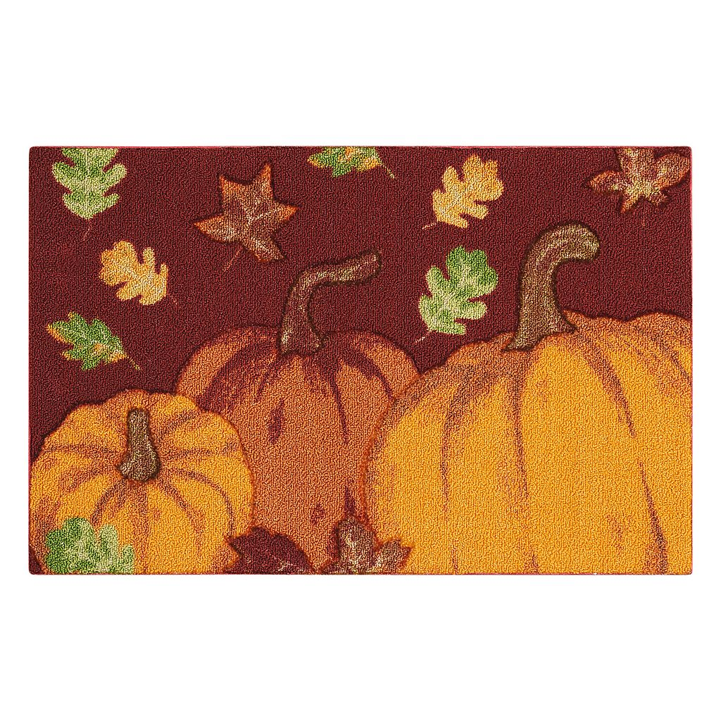 Celebrate Fall Together Pumpkins & Leaves Rug - 20'' x 30''