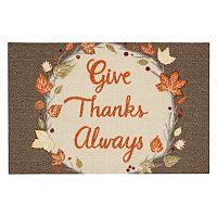 Celebrate Fall Together ''Give Thanks Always'' Rug - 20'' x 30''