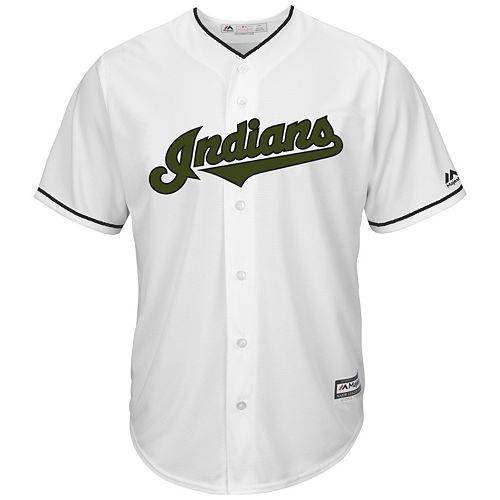 Men's Majestic Cleveland Indians Memorial Day Replica Jersey