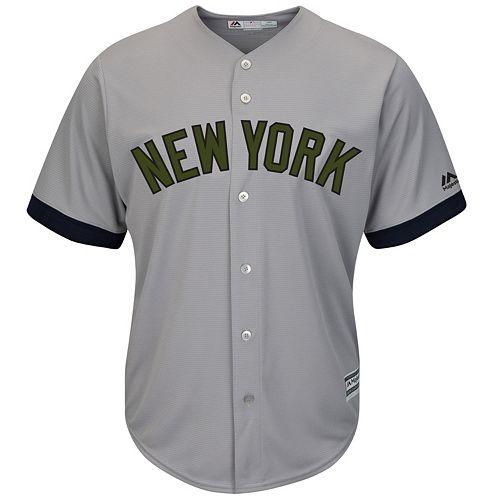 Men's Majestic New York Yankees Memorial Day Replica Jersey