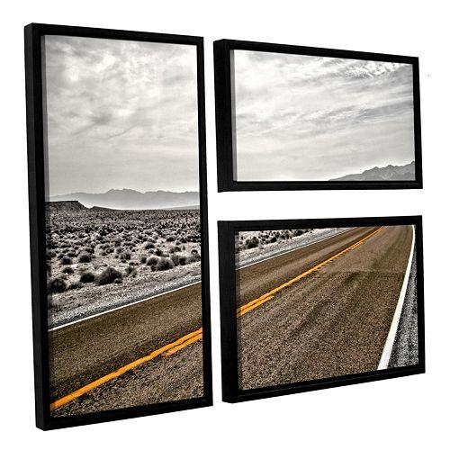 ArtWall ''Slow Curves'' Framed Wall Art 3-piece Set