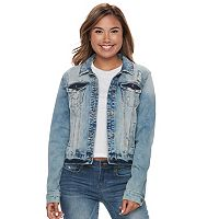 Juniors' Mudd® Ripped Light Wash Denim Jacket