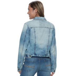 Juniors' Mudd® Ripped Light Wash Denim Jacket