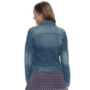 Juniors' Mudd® Embroidered Denim Jacket