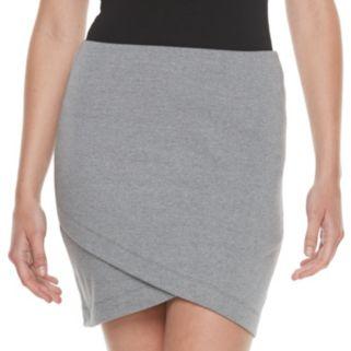 Juniors' SO® Solid Cross Front Skirt
