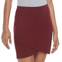 Juniors' SO® Solid Cross Front Skirt
