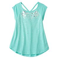 Girls 7-16 & Plus Size SO® Cutout V-back Tee