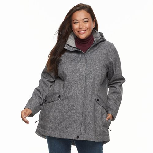 Plus Size Zeroxposur Soft Shell Jacket
