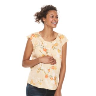 Maternity a:glow Print Pleated Tee