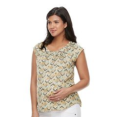 Maternity a:glow Print PleatedTee