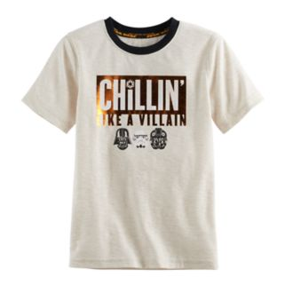 "Boys 4-7x Star Wars a Collection for Kohl's ""Chillin' Like A Villain"" Tee"