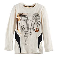 Boys 4-7x Star Wars a Collection for Kohl's 'Rebel Squadron 77' Starships Graphic Tee