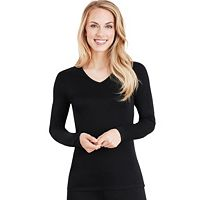 Women's Cuddl Duds Softwear Lace Trim Top
