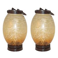Pomeroy Sunset 15-in. Indoor / Outdoor Lantern Table Decor 2-piece Set