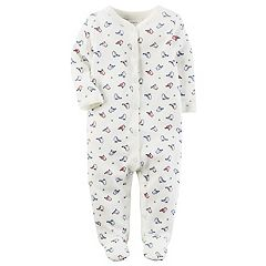 Baby Girl Carter's Birds Thermal Terry Sleep & Play