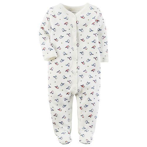 Baby Girl Carter's Birds Thermal Terry Sleep & Play