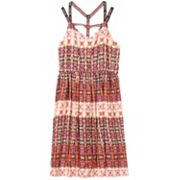 Girls 7-16 Speechless Geometric Gauze Dress