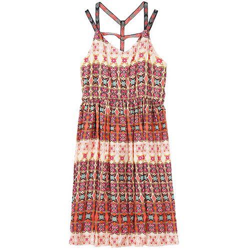 Girls 7-16 Speechless Geometric Gauze Dress