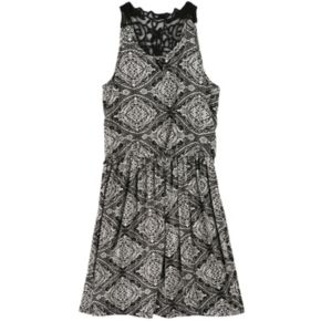 Girls 7-16 Speechless Lace-Back Tile Dress