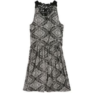 Girls 7-16 Speechless Lace-Back Tile Dress