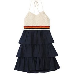 Girls 7-16 Speechless Crocheted Tiered Halter Dress