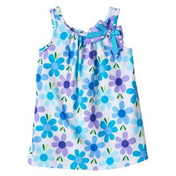 Baby Girl Sophie Rose Floral Bow Dress