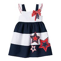 Baby Girl Sophie Rose Patriotic Colorblock Dress