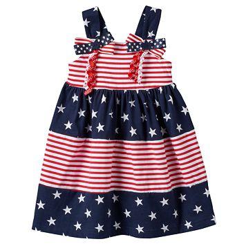 Baby Girl Sophie Rose Patriotic Tiered Dress