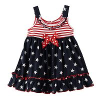 Baby Girl Sophie Rose Americana Ruffle Trim Sundress